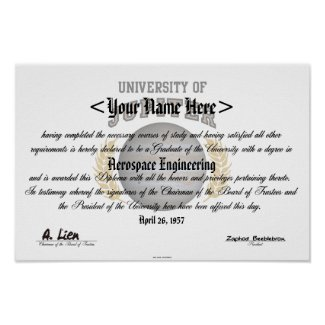 University Of Jupiter Diploma