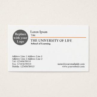 University of Life - Orange Rule Business Card