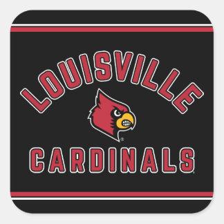 University of Louisville   Cardinals Square Sticker