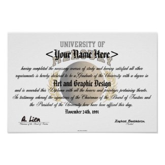 University Of Mercury Diploma