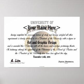 University Of Mercury Diploma