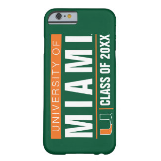University of Miami Alumni Barely There iPhone 6 Case