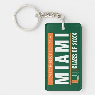 University of Miami Alumni Double-Sided Rectangular Acrylic Keychain