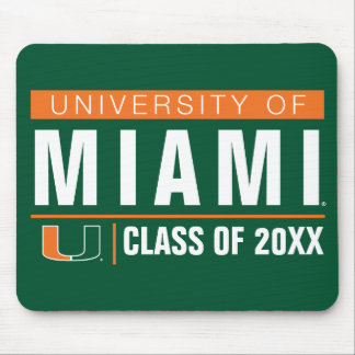University of Miami Alumni Mouse Pad