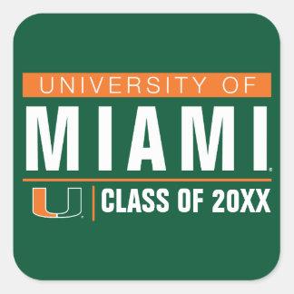 University of Miami Alumni Square Sticker