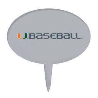 University of Miami Baseball Mark Cake Pick