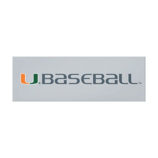 University of Miami Baseball Mark Stretched Canvas Print