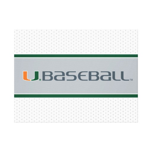 University of Miami Baseball Mark Canvas Prints