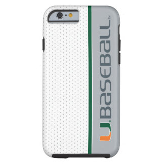 University of Miami Baseball Tough iPhone 6 Case