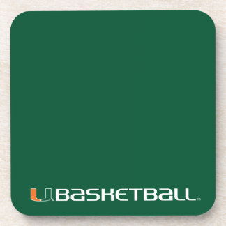 University of Miami Basketball Drink Coaster