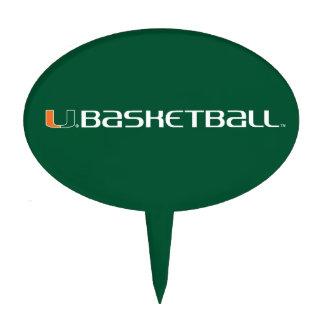 University of Miami Basketball mark Cake Pick