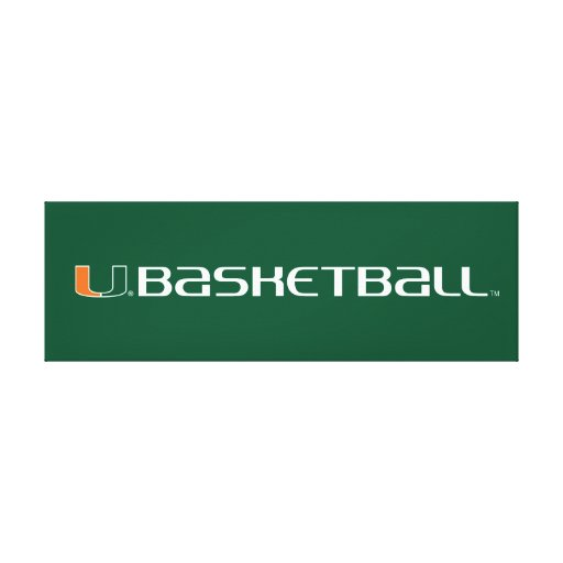 University of Miami Basketball mark Gallery Wrapped Canvas