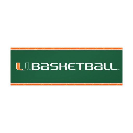 University of Miami Basketball mark Canvas Print