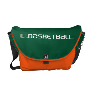 University of Miami Basketball mark Courier Bags