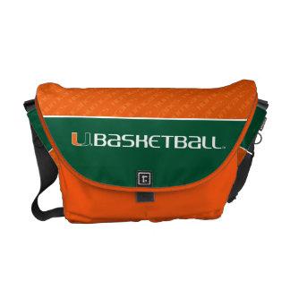 University of Miami Basketball mark Messenger Bag