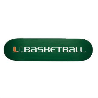 University of Miami Basketball mark Skateboard Deck