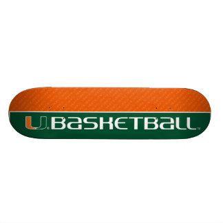 University of Miami Basketball mark Skateboard Decks