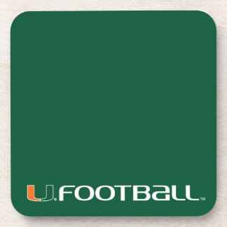 University of Miami Football Beverage Coaster