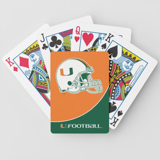 University of Miami Football Bicycle Playing Cards