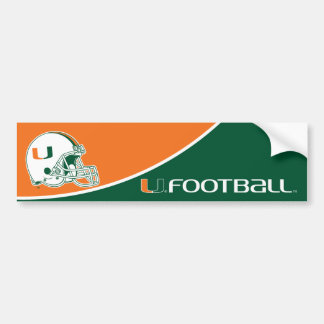 University of Miami Football Bumper Sticker