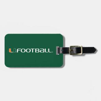 University of Miami Football Luggage Tag