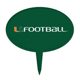 University of Miami Football Mark Cake Toppers