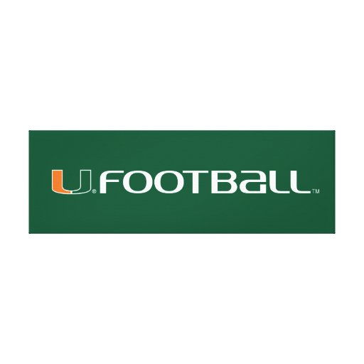 University of Miami Football Mark Stretched Canvas Prints