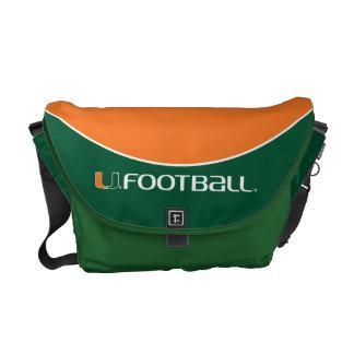 University of Miami Football Messenger Bag