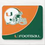 """University of Miami Football Mouse Pad<br><div class=""""desc"""">Get all of the best University of Miami gear at Zazzle.com! Support the Hurricanes in style with these products that are perfect for students, alumni, family, and fans. All of these products are customizable with your name, your sport, or your class year. Represent the U by sporting Green and Orange...</div>"""