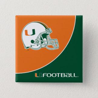 University of Miami Football Pinback Button
