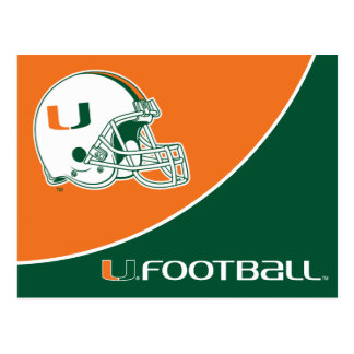 University of Miami Football Postcard