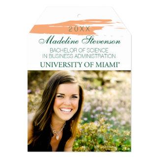 University of Miami Graduation Announcement