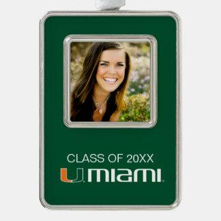 University of Miami Graduation Christmas Ornament