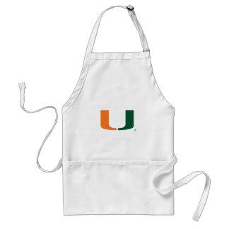 University of Miami Green and Orange U Adult Apron