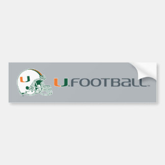 University of Miami Helmet Bumper Sticker