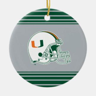 University of Miami Helmet Ceramic Ornament