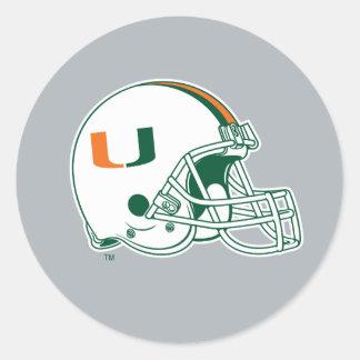 University of Miami Helmet Classic Round Sticker