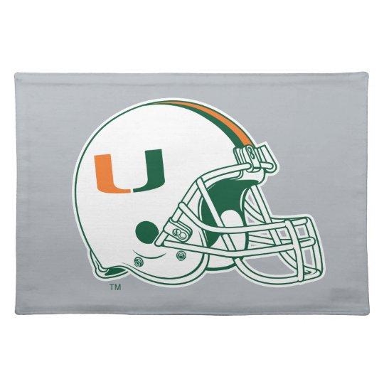 University of Miami Helmet Cloth Placemat