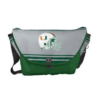 University of Miami Helmet Courier Bag