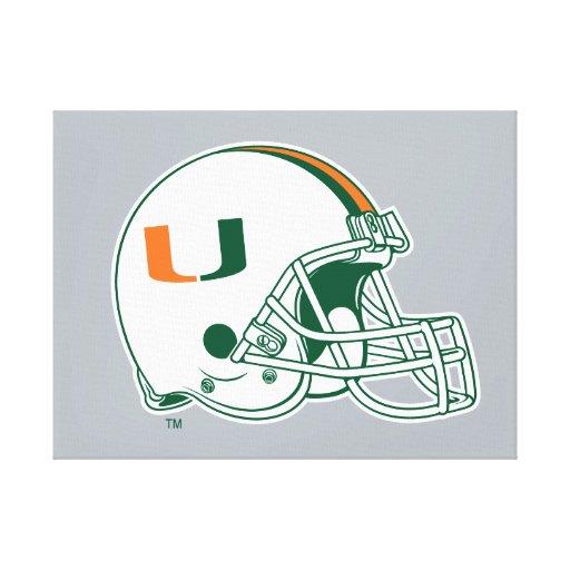 University of Miami Helmet Mark Gallery Wrap Canvas