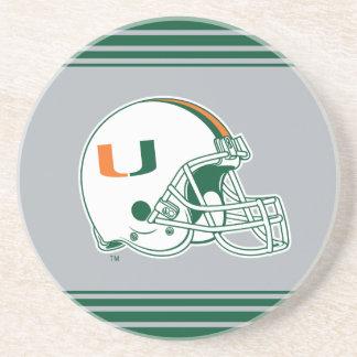 University of Miami Helmet Mark Coasters