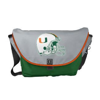 University of Miami Helmet Mark Courier Bags