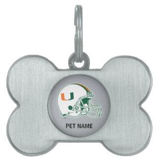 University of Miami Helmet Mark Pet ID Tags