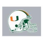 University of Miami Helmet Mark Postcard