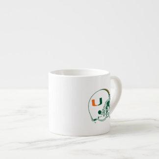 University of Miami Helmet Mark 6 Oz Ceramic Espresso Cup