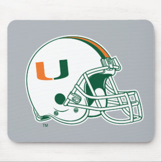 University of Miami Helmet Mouse Pad