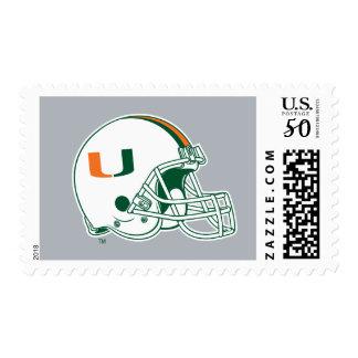 University of Miami Helmet Postage