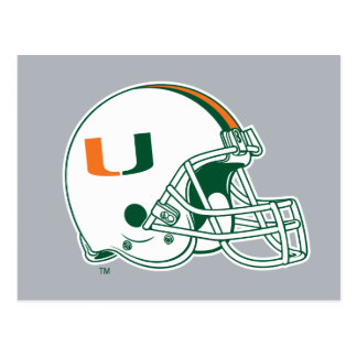 University of Miami Helmet Postcard