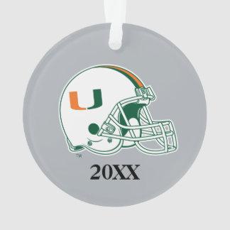 University of Miami Helmet with Year Ornament
