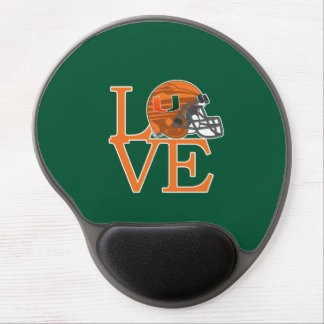 University of Miami Love Gel Mouse Pad